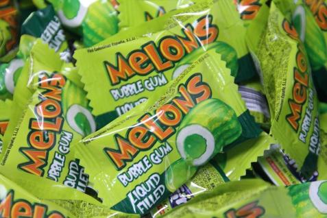 Melone Bubble Gum Boom Kaugummi gefüllt Glutenfrei einzeln 5g