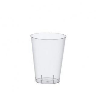 Papstar 12162 50 Trinkbecher Polystyrol 0.2 L, Ø 7.5 x 9.7 cm, glasklar