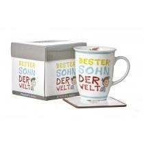 Ritzenhoff und Breker Kaffeebecher mit Geschenkebox Bester Sohn