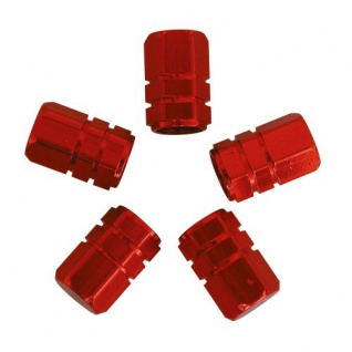 CARPOINT 2216008 Ventilkappen Kolben 5 Stück rot