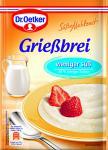 Dr. Oetker Grießbrei Weniger Süß, 12er Pack (12 x 76 g)