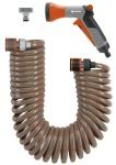 Gardena Spiralschlauch-Set 4647-20 Arbeitslänge von 10m zum Gießen und Bewässern