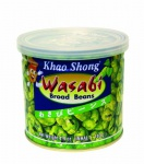 Khao Shong thailändische Knabberspezialitäten Dicke Bohnen mit Wasabi 140g 6er Pack