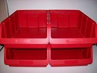 Stapelbox Gr. 5 rot 315x460x185 mm für Werkstatt Lager oder Büro 4er Pack