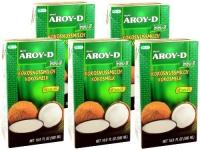 Kokosmilch Aroy-D natürliche Kokusmilch zum Backen und Kochen 500ml 5erPack