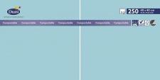 Duni Zelltuch-Servietten 40 x 40 cm 3 lagig 1/4 Falz mint blue, 250 Stück