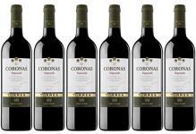 6 x TORRES CORONAS TEMPRANILLO 13, 5 % vol. 0, 75l SPANIEN ROT