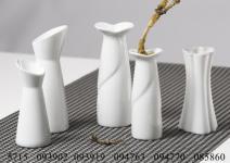 Vase 15cm weiss Lupino