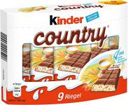 Kinder Country Riegel Schokolade 9St