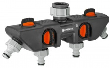GARDENA 4-Wege-Verteiler: für bis zu 4 Geräte an den Wasserhahn