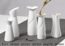 Ritzenhoff & Breker klassisch weiße Vase Lupino Vasenserie Leoni 12cm