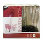 Papstar Invitation Gläser für Rotwein Weingläser Rotweingläser 0, 2l (20 Stck. Packung)