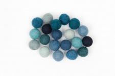 Filzkugelmix blau 1, 5 cm