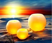 """LED-Echtwachskerzen """" Rondo"""", 3er-Set Deko-Leuchten Garten-Leuchten Wachsleuchte"""