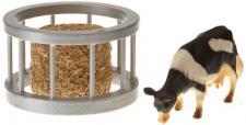 Kids Globe Farming 571961 - Futterring mit Ballen und Kuh