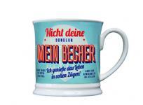 H & H 195000016 Becher, Porzellan, mehrfarbig, 12 x 8, 7 x 8, 7 cm