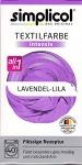 "Simplicol Textilfarbe intensiv all in 1 -Flüssige Rezeptur "" Lavendel-Lila"" Neu!"