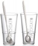 Ritzenhoff und Breker 115512 Latte Macchiato Gläser Lena mit Löffel, 4-teilig