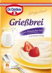 Dr. Oetker Süße Mahlzeit Grießbrei, 12er Pack (12 x 500 ml Packung)