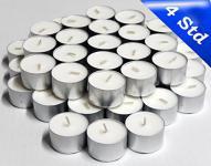 1000 St. Teelichter weiß, 4 Std. Brenndauer, Kerzen, Lichter