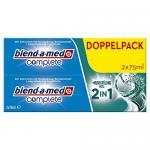 Blend-a-med Complete 2in1 plus Mundspülung Weiß Zahncreme, 6er Pack (6 x 150 ml)
