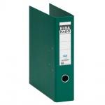 ELBA Kunststoff-Ordner rado plast 8 cm breit DIN A4 grün mit Einsteckrückenschild Ringordner Aktenordner Briefordner Büroordner Plastikordner Schlitzordner