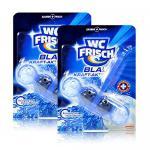 2x Henkel WC Frisch Blau Kraft Aktiv Chlor für blaues Wasser