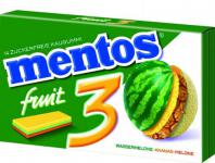 "mentos Gum "" 3"" Fruity Fresh Wassermelone Ananas Melone Menge:33g"