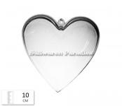Plastik Herz zum befüllen 10cm