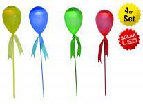 LED Deko-Solar Ballon 4er Set