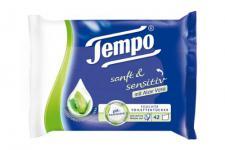 Tempo Feuchte Toilettentücher sanft & sensitiv Nachfüllpackung, 3er Pack (3 x 42 Tücher)