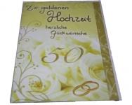 Karte zur goldenen Hochzeit Menge:1Stück