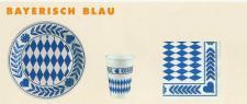 PAPSTAR Pappteller Bayrisch Blau, Durchmesser 230 mm