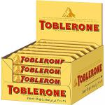 24 Riegel a 35g Toblerone Milk Schweizer Milchschokolade mit Honig- und Mandel-Torrone (10%)