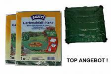 SWIRL Abfall Gewebe Plane Garten 1, 5 x 1, 5 m 2-er Pack grün
