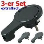 3 Stück (!!) extraflache Winkelstecker schwarz Kopp 3 x 1720.0503.0 (4008224588829)