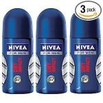 Nivea for Men Dry Impact Roll-on 50 ml (3 Pack) by Nivea