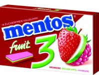 "mentos Gum "" 3"" Fruity Fresh Erdbeere-Grüner Apfel-Himbeere Menge:33g"