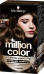 Million Color Intensiv-Pigment-Farbe 4-5 Goldbraun, 3er Pack (3 x 126 ml)