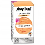"Simplicol Textilfarbe intensiv all in 1 -Flüssige Rezeptur "" Mango orange"" Neu!"