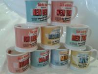 H & H 195000017 Becher, Porzellan, mehrfarbig, 12 x 8, 7 x 8, 7 cm