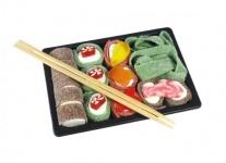 Fruchtgummi Sushi süss sauer mit Stäbchen mal was anderes 200g
