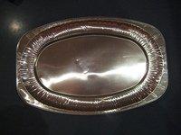 Aluminiumtablett - oval - 445 x 295 mm 5 Stück/Paket