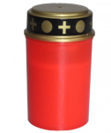 Grabkerze LED rot 14 cm 4er Pack