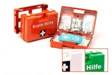 Leina KFZ Erste-Hilfe-Koffer ohne Inhalt in der Farbe orange aus Kunststoff