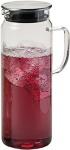 Kela Pitcher Saftkrug aus Glas, frischer Trinkgenuß mit Edelstahl-Deckel 1, 6l
