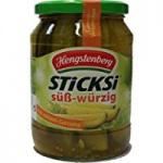 Hengstenberg Gurkenviertel Sticksi süß-würzig (720ml Glas)