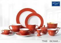 Flirt By R&B Geschirr-Serie Doppio siena-rot Material Kaffeetasse Doppio siena-rot