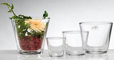 Sandra rich-pot rund aus Glas 14x H E.613/14e.12(yc-)