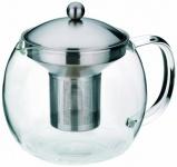 Kela 16922 Teekanne aus Glas mit Edelstahl-Siebeinsatz 1, 2 l Cylon